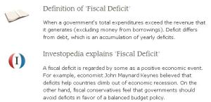 Current Fiscal Deficit