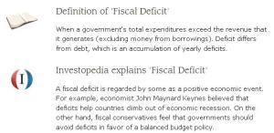 Current Fiscal Deficit